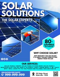 Solar Power Poster Pamflet (Letter AS) template