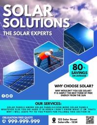 Solar Power Poster Flyer (US Letter) template