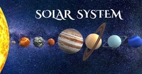 solar system out space video Facebook Shared Image template