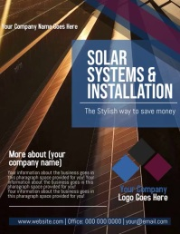 Solar Systems Company Flyer Template