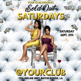 SOLD OUT SATURDAYS CLUB FLYER TEMPLATE