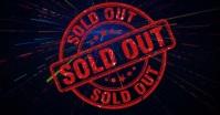 sold out video delt Facebook-billede template
