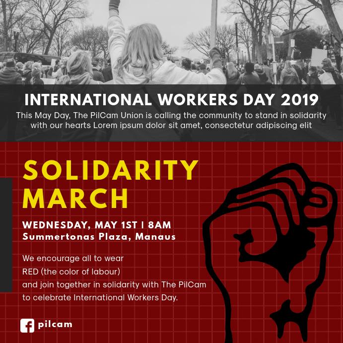 Solidarity Worker's March Instagram Post Template