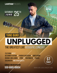 Solo Band Acoustic Concert Poster Template