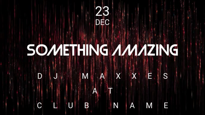 Something Amazing - Concert Event Flyer Digitalanzeige (16:9) template
