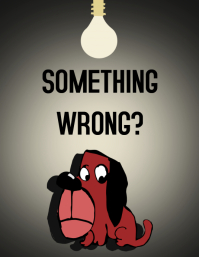 Something wrong? Flyer (US Letter) template