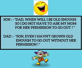 SON AND DAD FUNNY QUOTE TEMPLATE Medium Reghoek