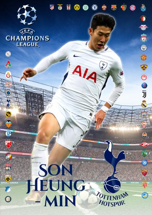 Son Heung-Min Tottenham Poster