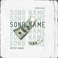 Song Money mixtape cover art design template