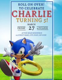 SONIC Birthday Party Invitation Template