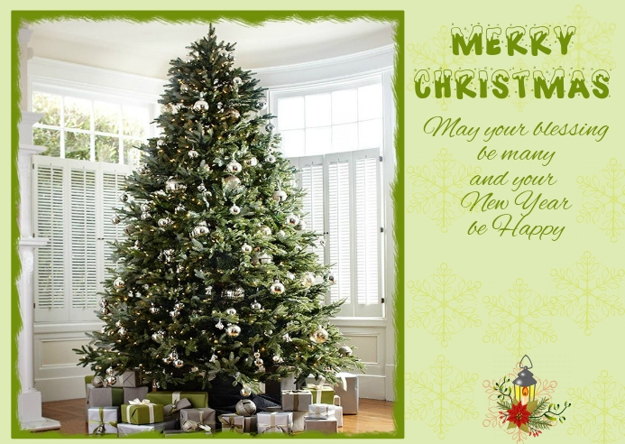 Sophisticated Christmas Postcard Cartolina template
