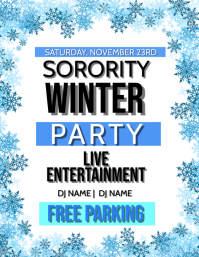 Sorority College Winter Party Flyer Template