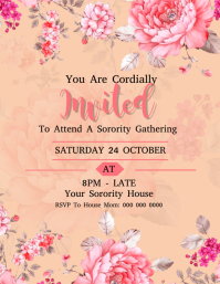 Sorority Party / Event Invitation Template