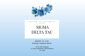 Sorority Recruitment Poster Label template