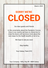 Sorry we're Temporarily closed flyer poster