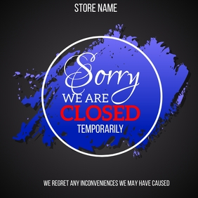 Sorry We Are Closed Poster Instagram-Beitrag template