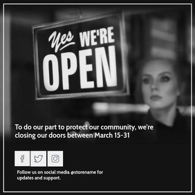 Sorry. we're closed Flyer Templates