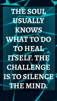 SOUL AND HEAL QUOTE TEMPLATE Instagram Story