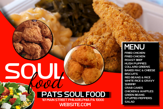 Soul Food Template Postermywall