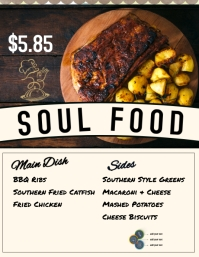 Soul Food Menu Flyer