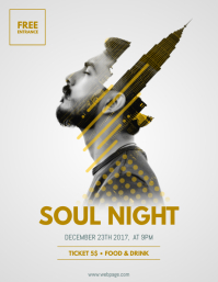 Soul Night Flyer Template