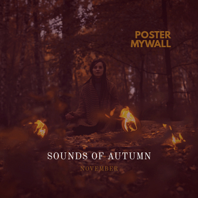 Sounds of Autumn November CD Cover Template