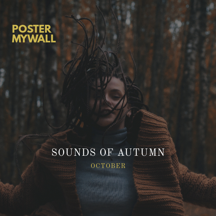 Sounds of Autumn October CD Cover Template
