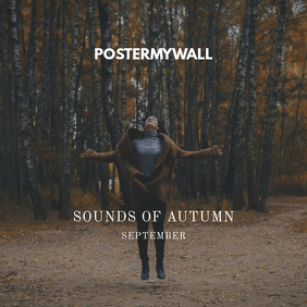 Sounds of Autumn September CD Cover Template Capa de álbum