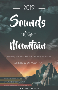 Sounds of the Mountain Concert Poster