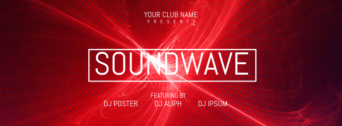 Soundwave Facebook Cover template