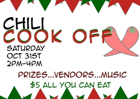 Soup & Chili cook off event Postkarte template