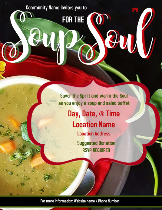 Soup for the soul Løbeseddel (US Letter) template
