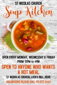 Soup Kitchen Poster Template