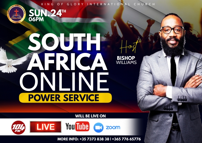 South Africa flyer Postal template