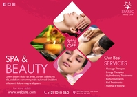 Spa & Beauty Care Ad Postcard template