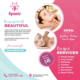 Spa & Beauty Care Center Ads Publicação no Instagram template