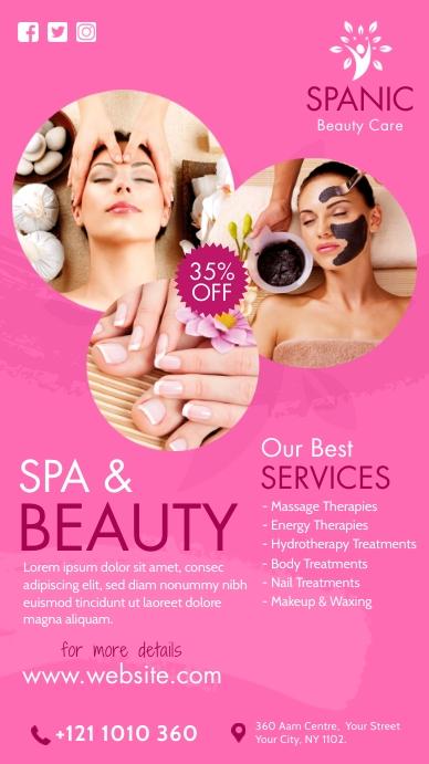 Spa & Beauty Care เรื่องราวบน Instagram template