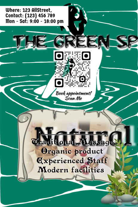 SPA and beauty parlor advertisement flyers
