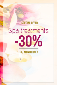 spa and beauty salon treatment sale poster