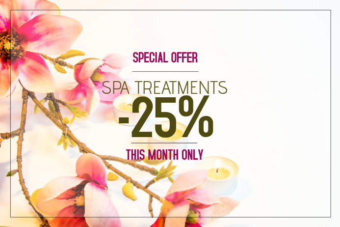 Spa and beauty treatment salon pink poster