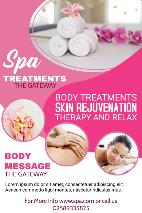 spa and salon poster art template postermywall