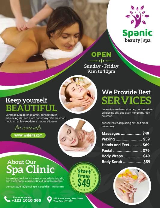 Spa and Salon Video Ad Pamflet (VSA Brief) template