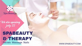 Spa and Therapy Advertisement Facebook Cover Video