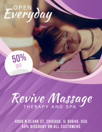 Spa and Therapy Discount Offer Flyer Template