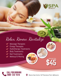 Spa Beauty Salon Flyer Template