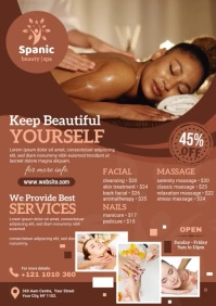 Spa Beauty Saloon Video Ad A4 template