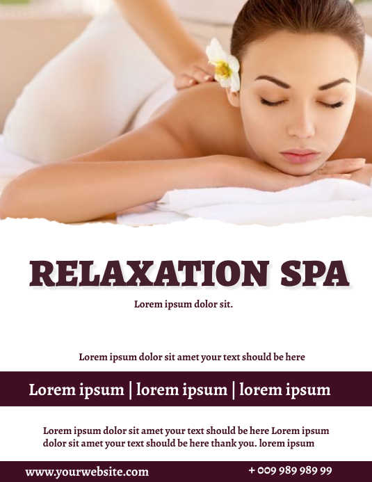Spa Flyer (Letter pang-US) template