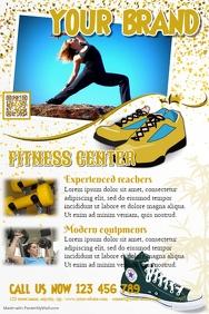 Fitness flyer template - SPA brochure