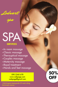 SPA FLYER Poster template