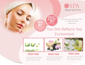 Spa Flyer (format US Letter) template